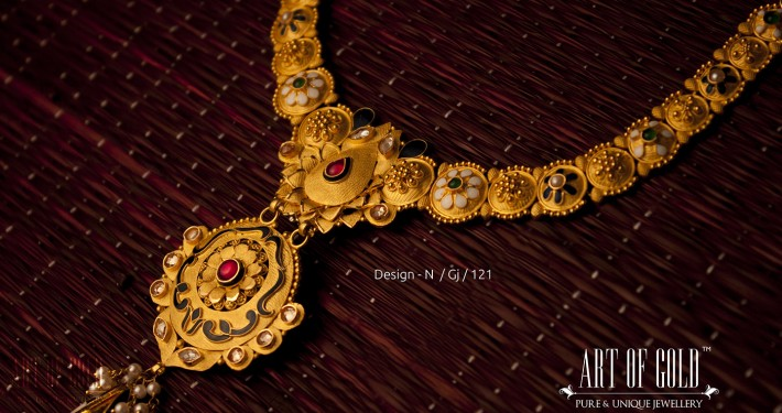 Antique Necklace with Intricate enamelling