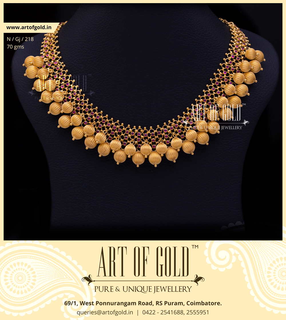 Designer Gold Balls Necklace