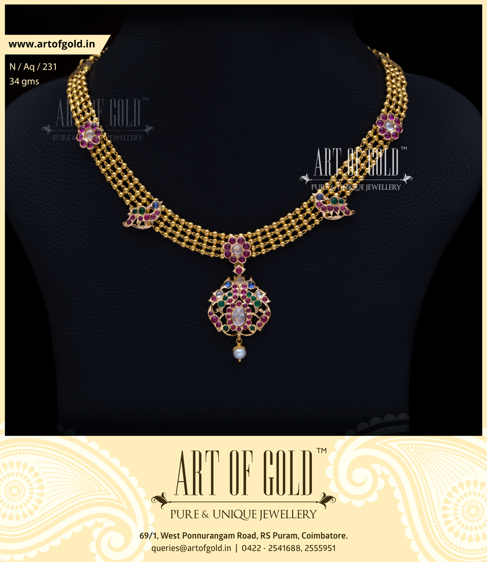 gold designs watch necklace jewellery latest antique