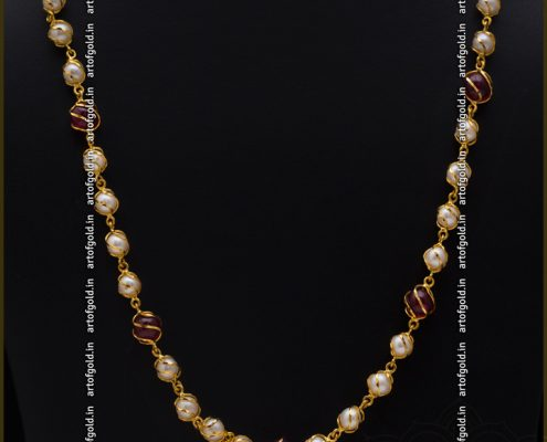 Pearl Chain in Gold