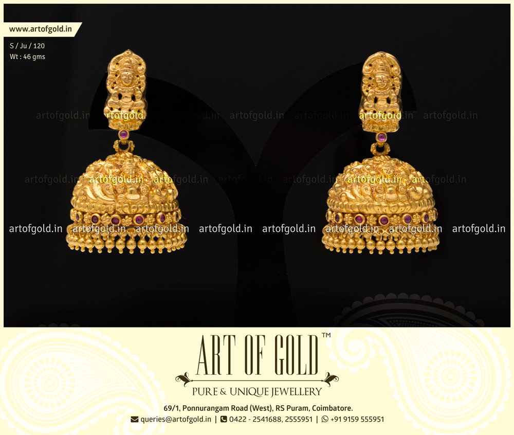 Bridal Nakshi Jhumkas | Art of Gold Jewellery, Coimbatore