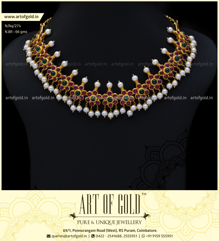 Antique Kemp Necklace with Pearls