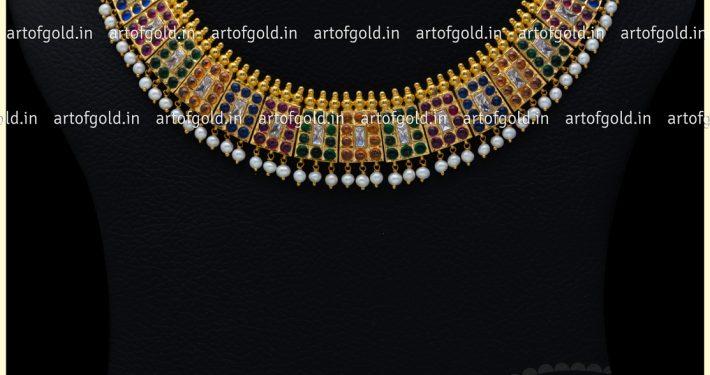 Antique Multicolour Chettinad Necklace