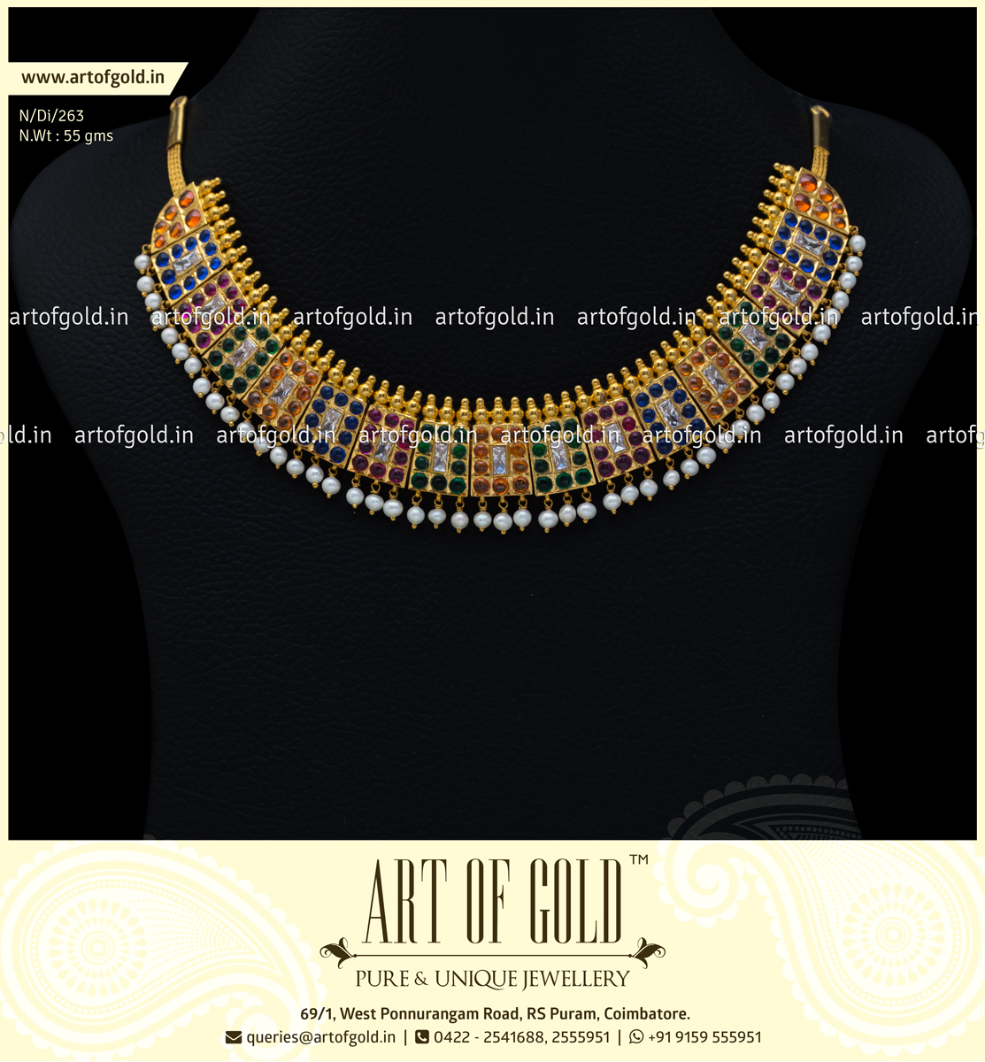 Antique Multicolour Chettinad Necklace