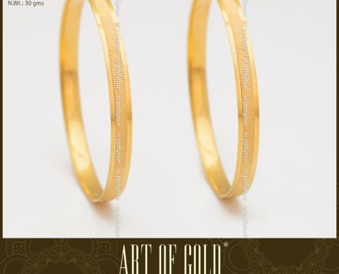 Plain Gold Office Wear Bangle