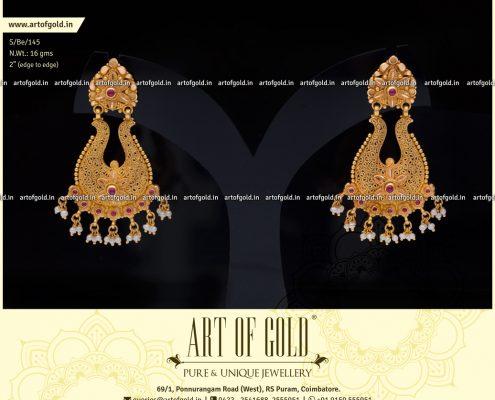 Gold Filigree Chandbali