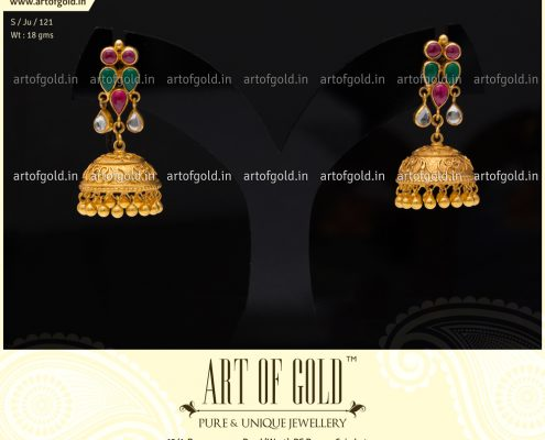 Antique Jhumkas with Kemp Studs