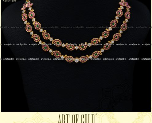 Double Row Chettinad Mango Necklace