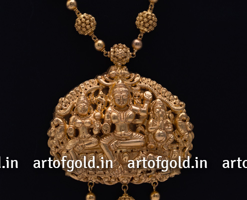 Nakshi Chain with Nakshi Shiv Parivar Pendant