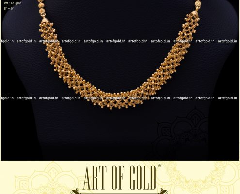 Plain Gold Mesh Necklace