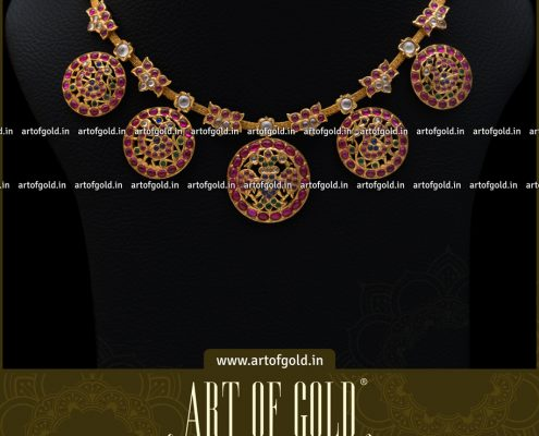 Annapakshi Kemp Necklace
