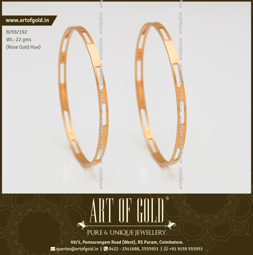 Rose Gold Office Wear Bangle - Cut Pattern