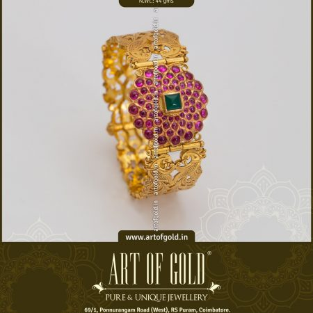 Kada Bangle - Hand Carved & Kemp Motif