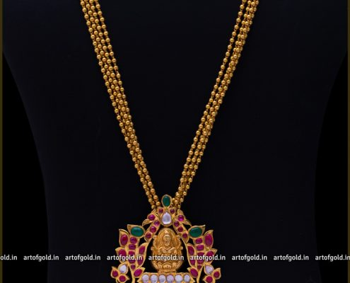 Lakshmi Pendant with Gold Balls Haram