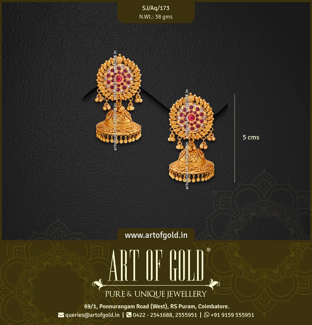 Antique Gold Bridal Jhumkas