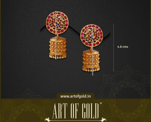 Antique Gold Bridal Jhumkas