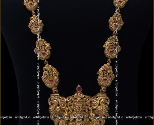 Nakshi Haram with Lakshmi pendant
