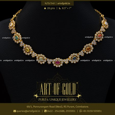 Navaratna Necklace - Light Weight