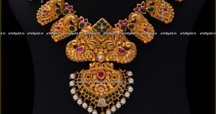 Nagas Necklace – Peacock & Mango motifs