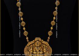 Nagas Haram - Lakshmi Pendant & Antique Gold Balls