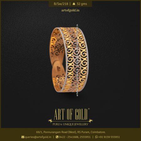 Designer Gold Kada Bangle