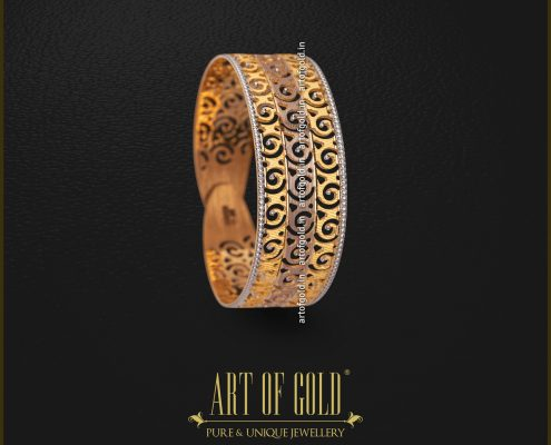 Designer Gold Kada Bangle