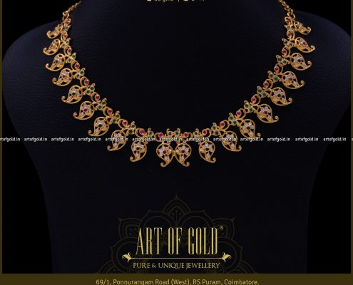 Designer Gold Mango Necklace