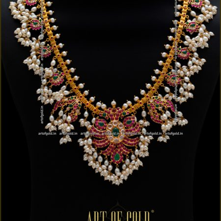 Gold Guttapusalu Haram - Bridal wear