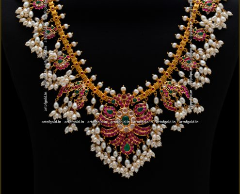 Gold Guttapusalu Haram - Bridal wear