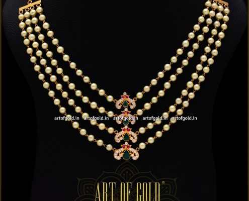 Pearl Gold Necklace - Indian design