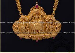 Shiva Parvathi Gold Pendant