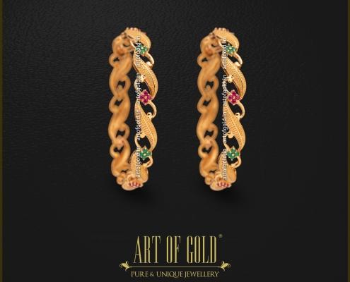 Designer Gold Bangle