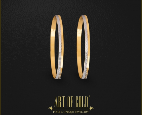 Two tone Gold Bangle