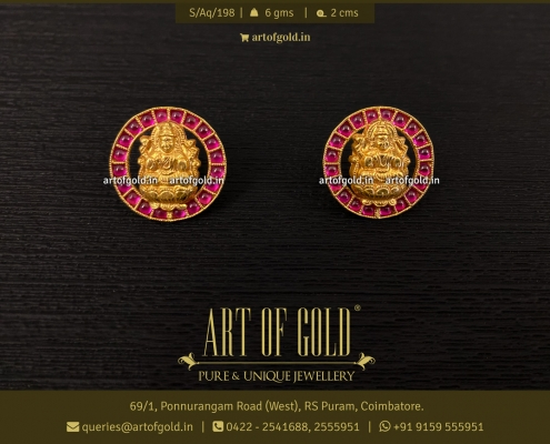 Gold Lakshmi Earrings
