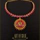 Gold Addigai Necklace with Kemp Stone