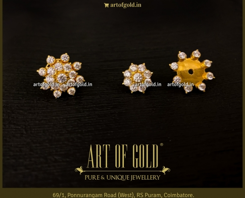 Traditional Indian CZ Earrings