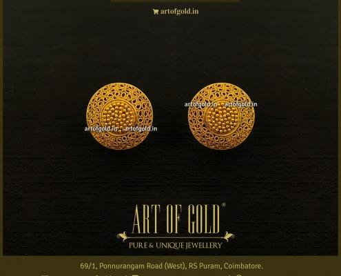 Gold Filigree Studs