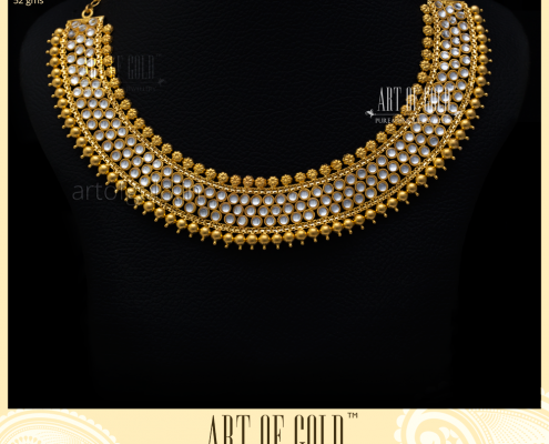Kundan Necklace - Gold