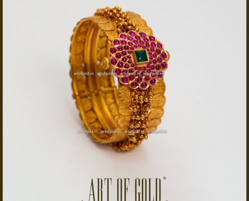 Kasu Gold Bangle - Bridal