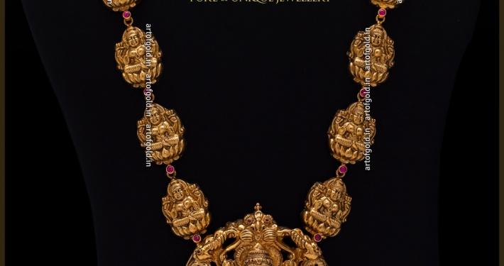 2 in 1 Vaddanam (Gold waist belt)