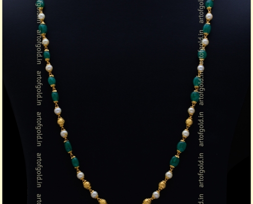 Pearl, Emerald & Gold chain