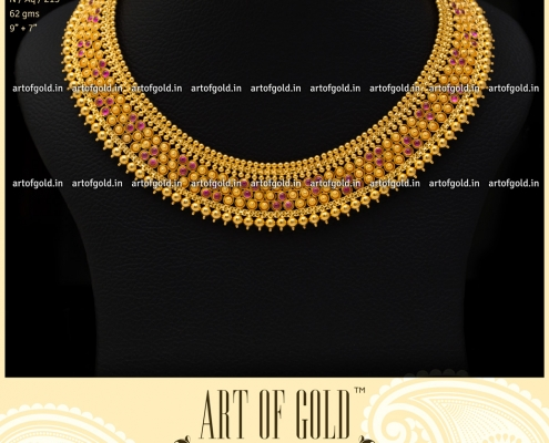 Simple Gold Bridal Neckalce