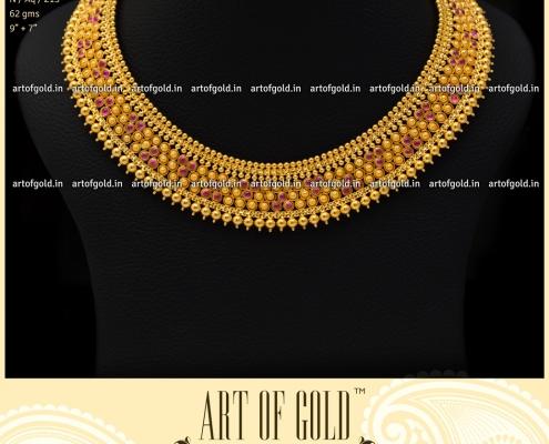 Simple Gold Bridal Neckalce