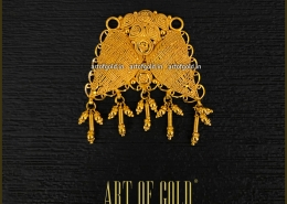 Gold Pendant for Chains - Filigree pattern