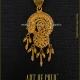 Gold Filigree Pendant