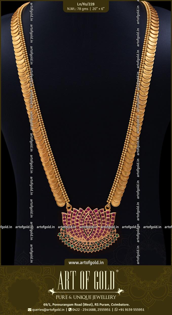 Kasu Haram with Lotus Pendant