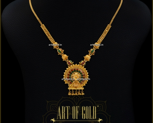 Lightweight Gold Necklace with Pendant