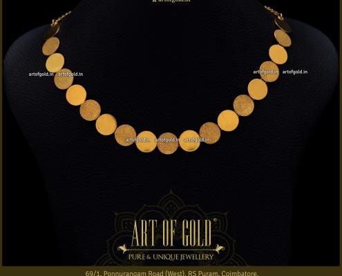 Plain Gold Coin Necklace