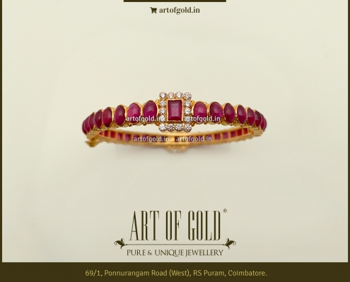 Ruby Bangle with Swarovski