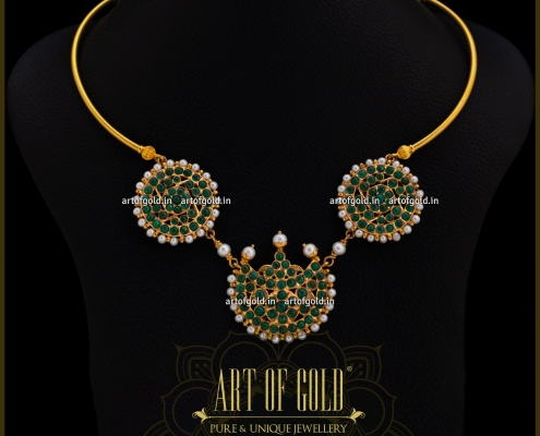 Emerald Necklace in Gold